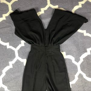 ASOS Other - NWT Asos Jumpsuit Black Butterfly Sleeve US 4